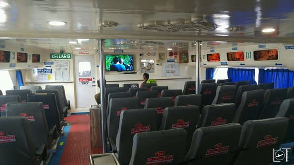 The ferry is also more comfortable then a flight.