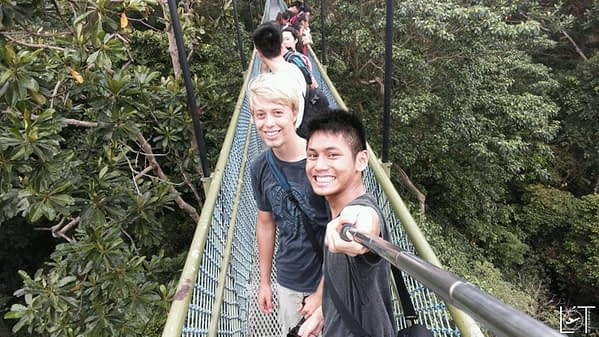 Me and Marcel doing the Canopy walk in one of SGs parks.
