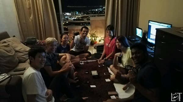 An night of Card against Humanity with Yeeenn and other Couchsurfers, best time in Penang!