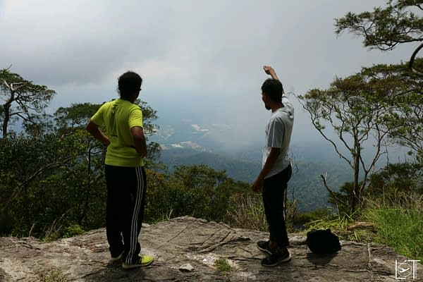 Uhmar and his friend when we hiked a mountain together. Great trip and I stayed with his fried at his place on the other side of Malaysia later.